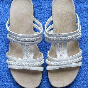 Croft & Barrow Women's White Sandals Size 8 New